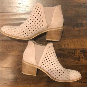 Anthropologie Silent D Perforated Ankle Booties